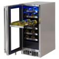 """Enfriador de vinos para exterior 15"""" bajo cubierta LYNX modelo LM15WINER"""