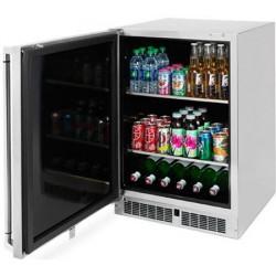"""Enfriador de bebidas para exterior c/dispensador 24"""" bajo cubierta modelo LM24BFR"""