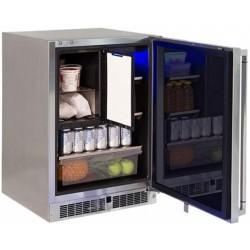 """Refrigerador con Congelador 24"""" para exterior bajo cubierta LYNX modelo LM24REFCL"""