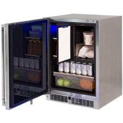 """Refrigerador con Congelador 24"""" para exterior bajo cubierta LYNX modelo LM24REFCR"""