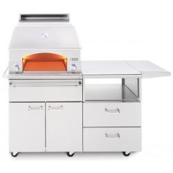 """Horno para pizza 30"""" sobre carrito de cocina movil LYNX para empotre model LPZAF"""