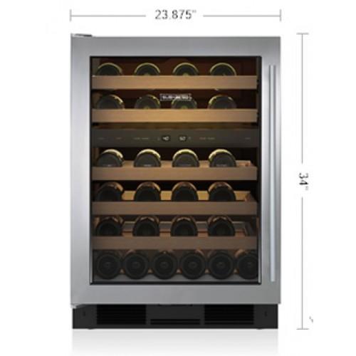 "Cava de Vino SUB-ZERO Bajo Cubierta (Jaladera Profesional Izquierda) 24"" - UW-24/S/PH-LH"