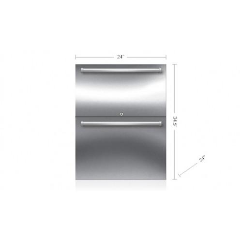 "Cajones Refrigerantes SUB-ZERO Bajo Cubierta (Exterior - Panelable) 24"" - ID-24RO"