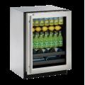 """Enfriador de Bebidas U-LINE Bajo Cubierta (Con Cerradura y Bisagra Derecha) 24"""" - U-3024BEVS-13B"""