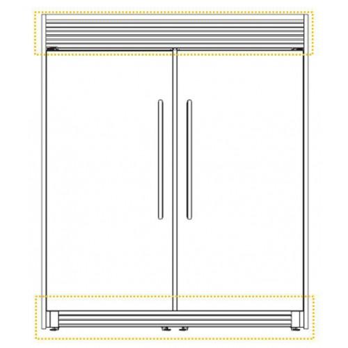 """TRIM Doble para Refrigerador y Congelador 60"""" Whirlpool modelo SKT60M"""